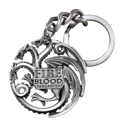 Breloc de metal: Game of Thrones - Targaryen Sigil Gunmetal