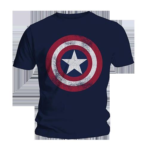 Tricou Captain America - Shield Distressed S imagine