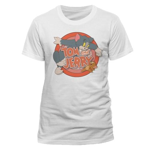 Tricou: Tom And Jerry - Retro Logo M