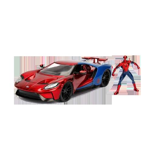 Figurina: Marvel Diecast Model 1/24 Spider-Man & 2017 Ford GT