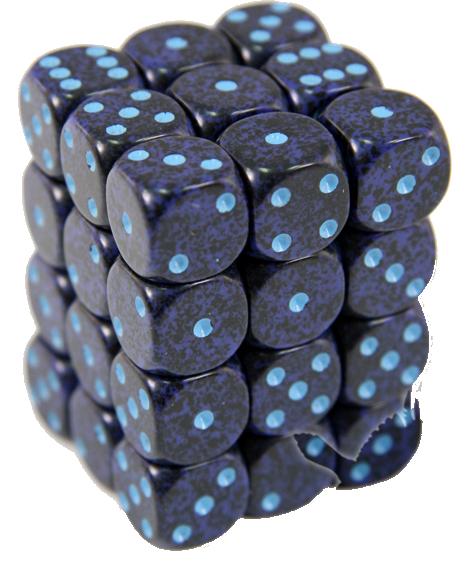 Set 36 zaruri d6 piperate Granit - 4