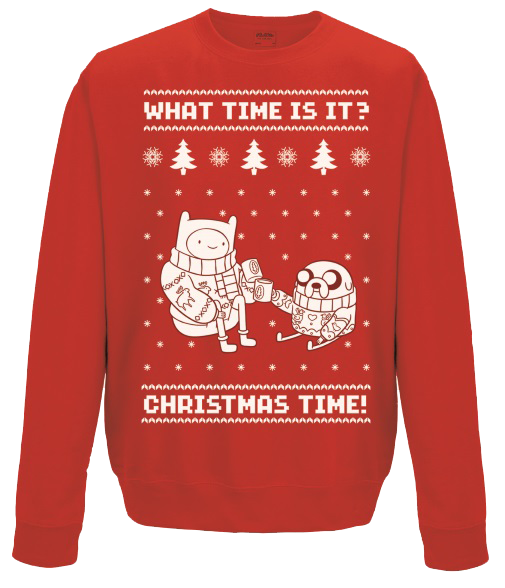 Adventure Time - Christmas Time Sweatshirt L imagine