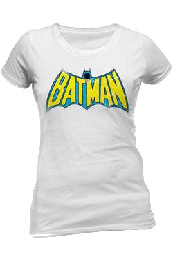 Batman Retro Logo White - Fitted M imagine