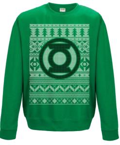 Green Lantern - Fair Isle Logo Sweatshirt XL imagine