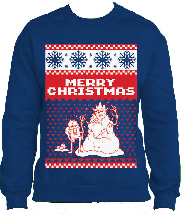 Adventure Time - Merry Christmas Sweatshirt L imagine