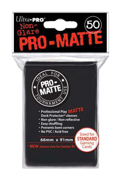 Ultra PRO Sleeves: Pro-Matte Standard (50) Negru - 8