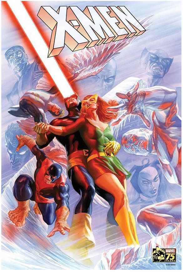Poster X-Men Marvel 75th Anniversary de Alex Ross imagine