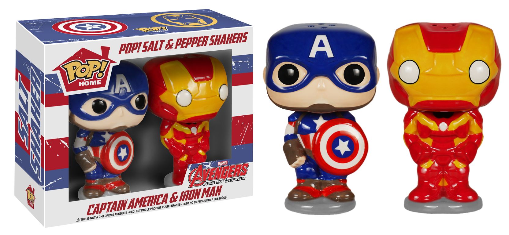 Funko Pop: Age of Ultron - Captain America & Iron Man Salt & Pepper Shakers imagine