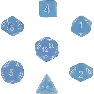 Set 7 zaruri Frosted Albastru