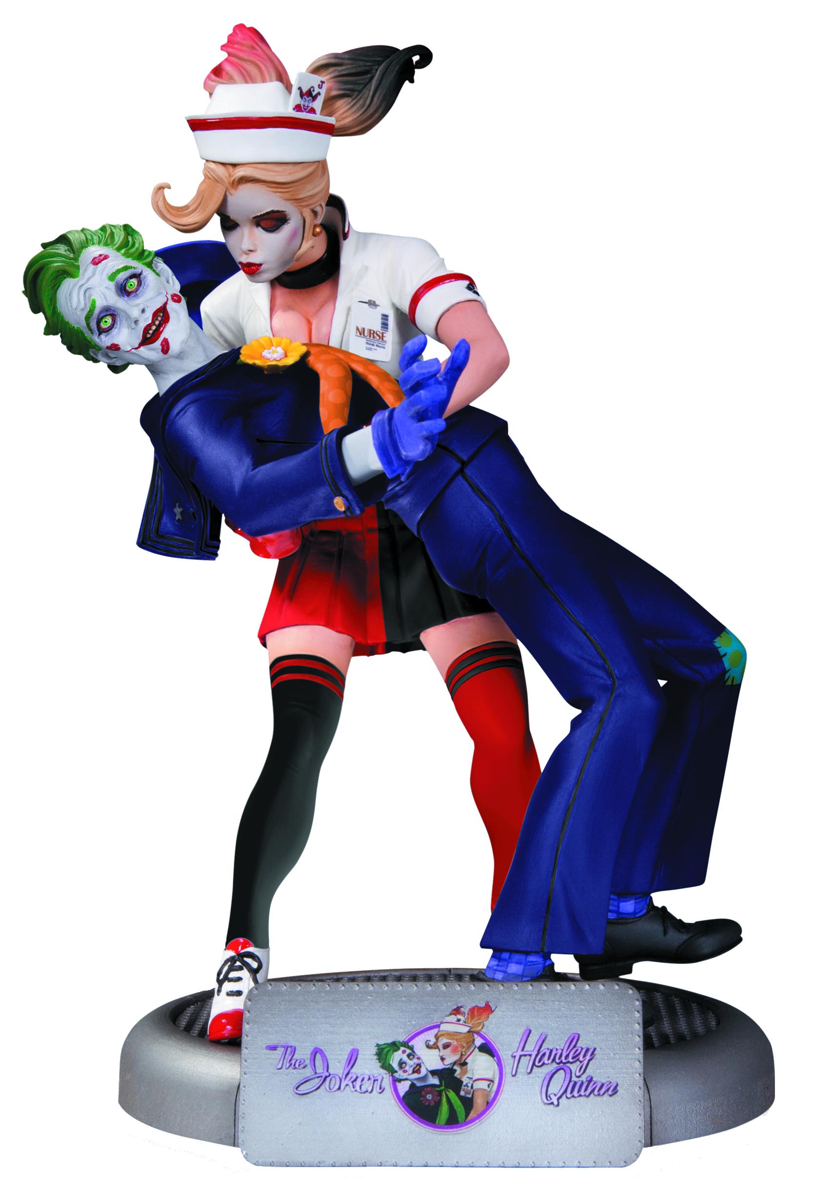 DC Comics Bombshells: Statuetă Joker & Harley Quinn ediția a doua imagine