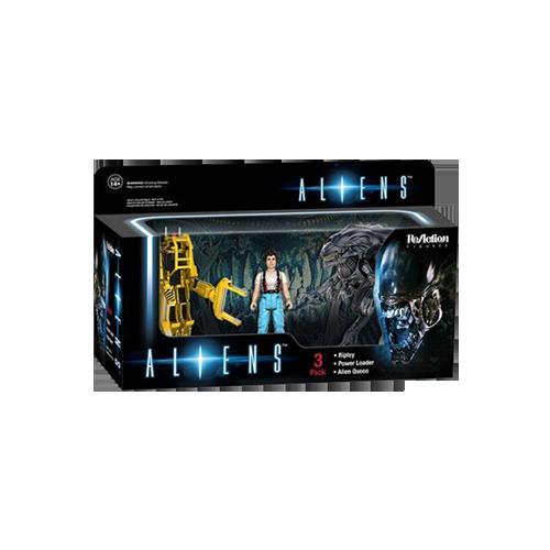Aliens: Set figurine Ellen Ripley, Power Loader & Alien Queen imagine