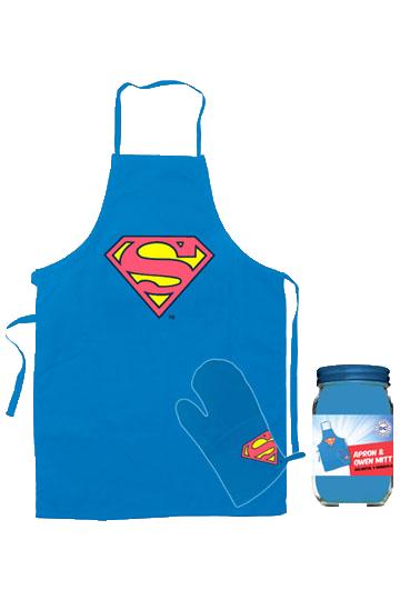 Superman: Șorț și mănușă de bucătărie Logo imagine