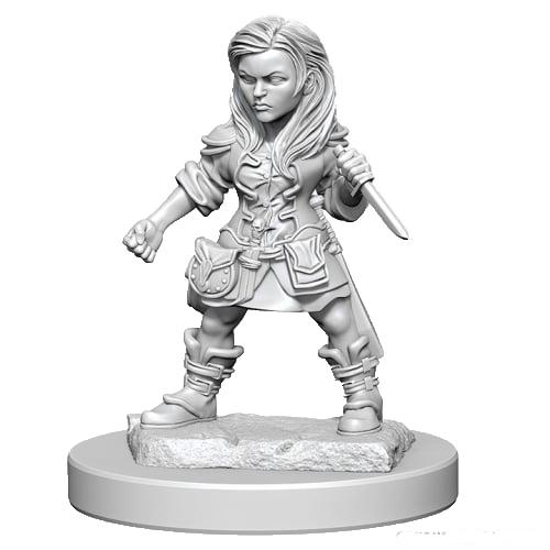 D&D Unpainted Miniatures: Halfling Female Rogue