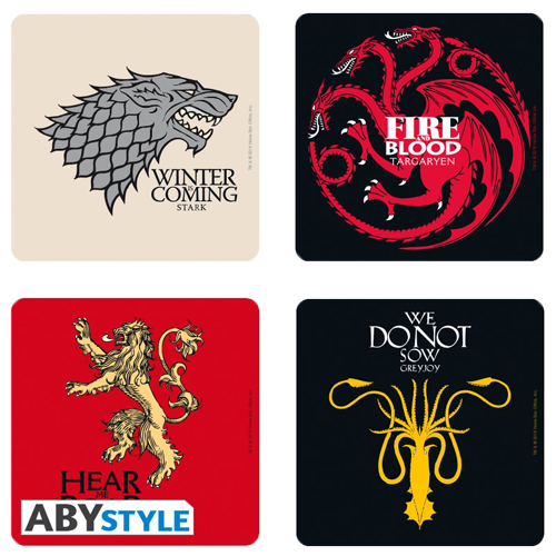 Set suport pahare: Game of Thrones Houses imagine
