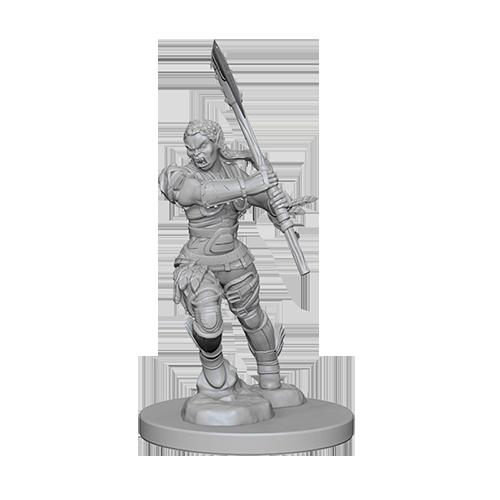 Pathfinder Unpainted Miniatures: Half-Orc Female Barbarian