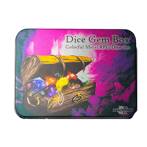 Metal Dice Set - Dice Gem Box (7 Dice)