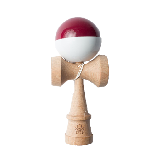Kendama Sweets Sumo Half Split Maroon White imagine