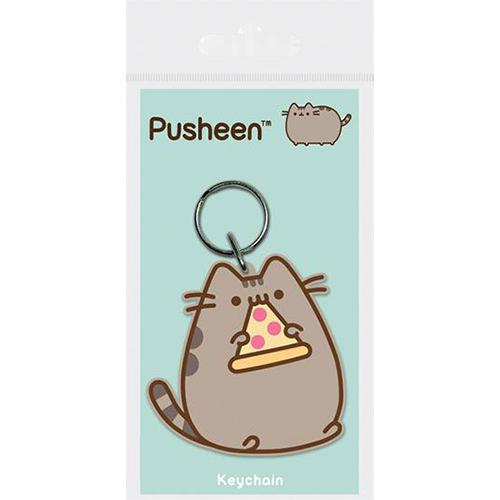 Breloc de cauciuc - Pusheen: Pizza