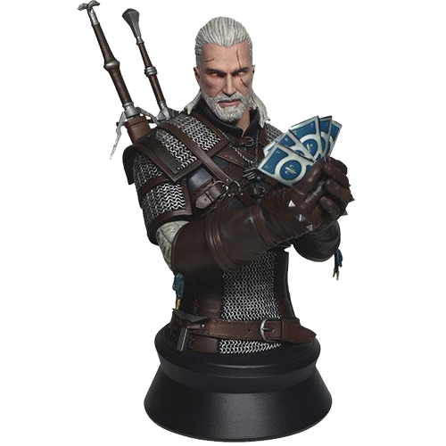 Figurina: Witcher 3 Wild Hunt Geralt Playing Gwent imagine