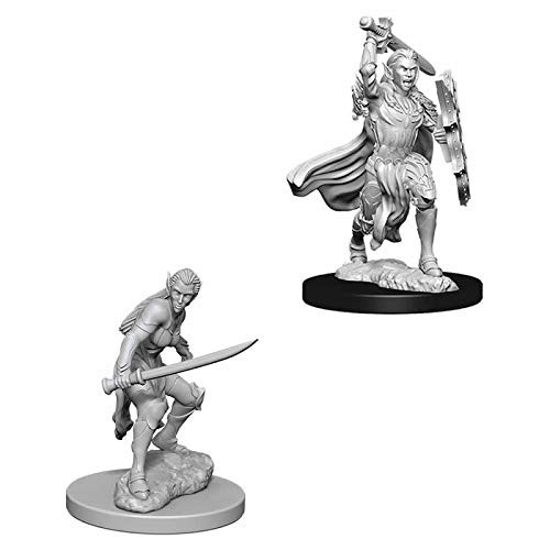 D&D Unpainted Miniatures: Female Elf Fighter