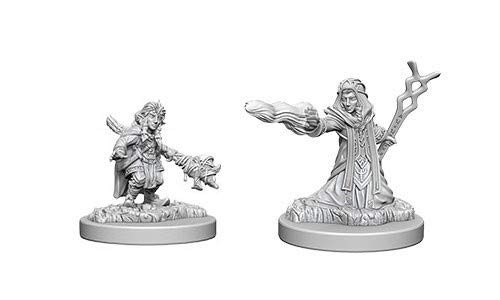 D&D Unpainted Miniatures: Female Gnome Wizard