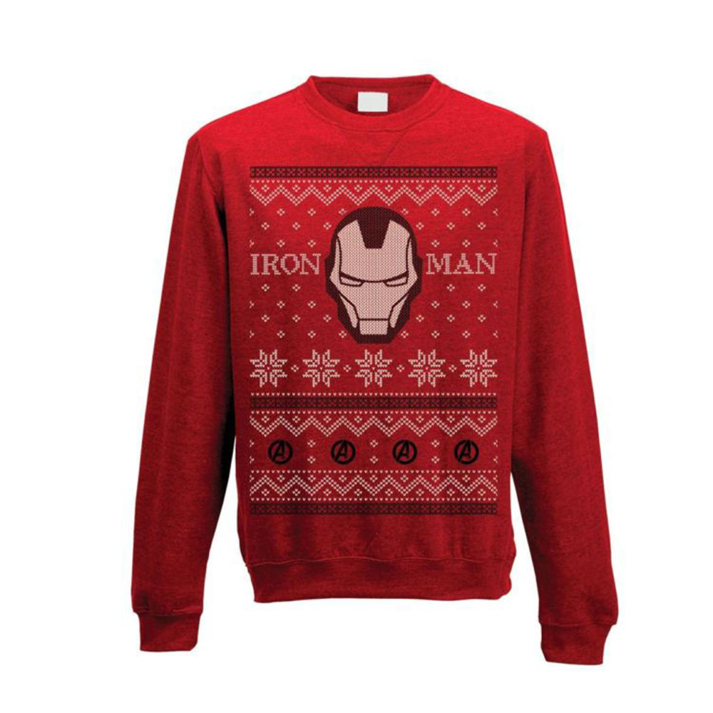 Avengers - Iron Man Fair Isle Sweatshirt L imagine
