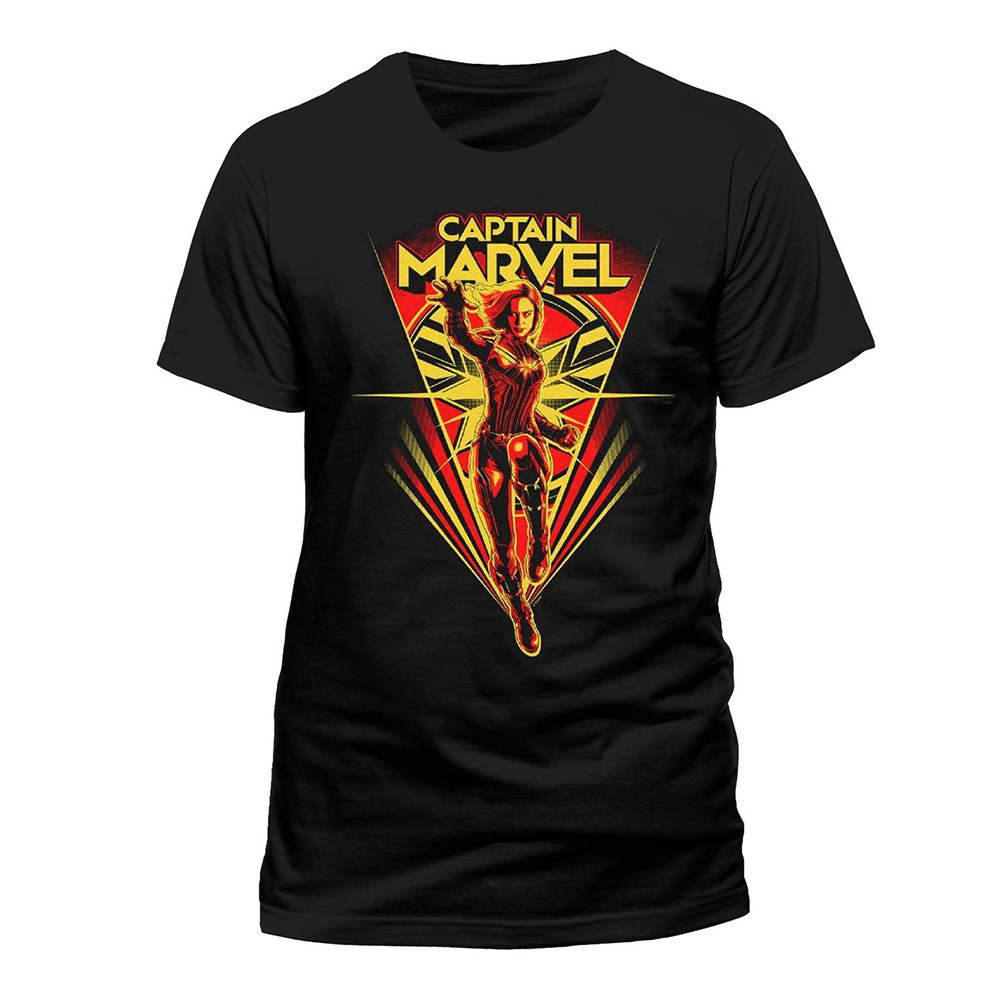 Tricou Captain Marvel - Flying V L imagine