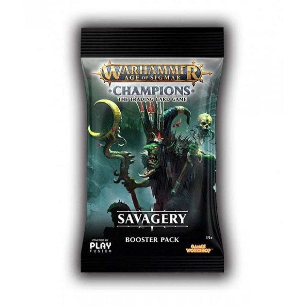 Pachet Warhammer Age of Sigmar: Champions - Savagery Booster Wave 3