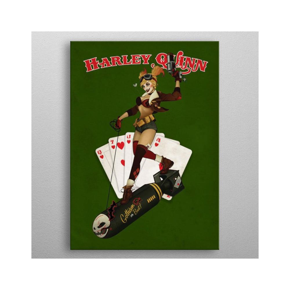 Poster Metal DC Comics Bombshells Harley Quinn