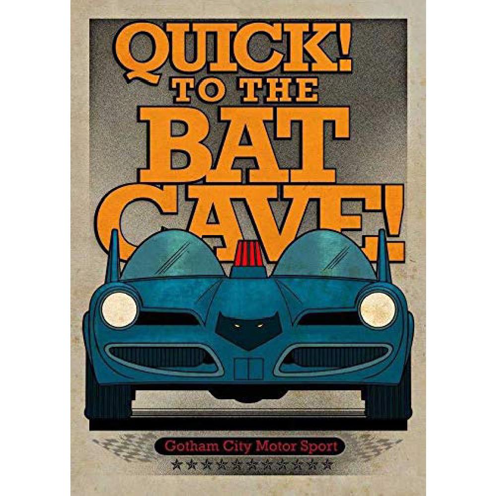 Poster Metal DC Comics Gotham City Motor Club Batmobile 1966
