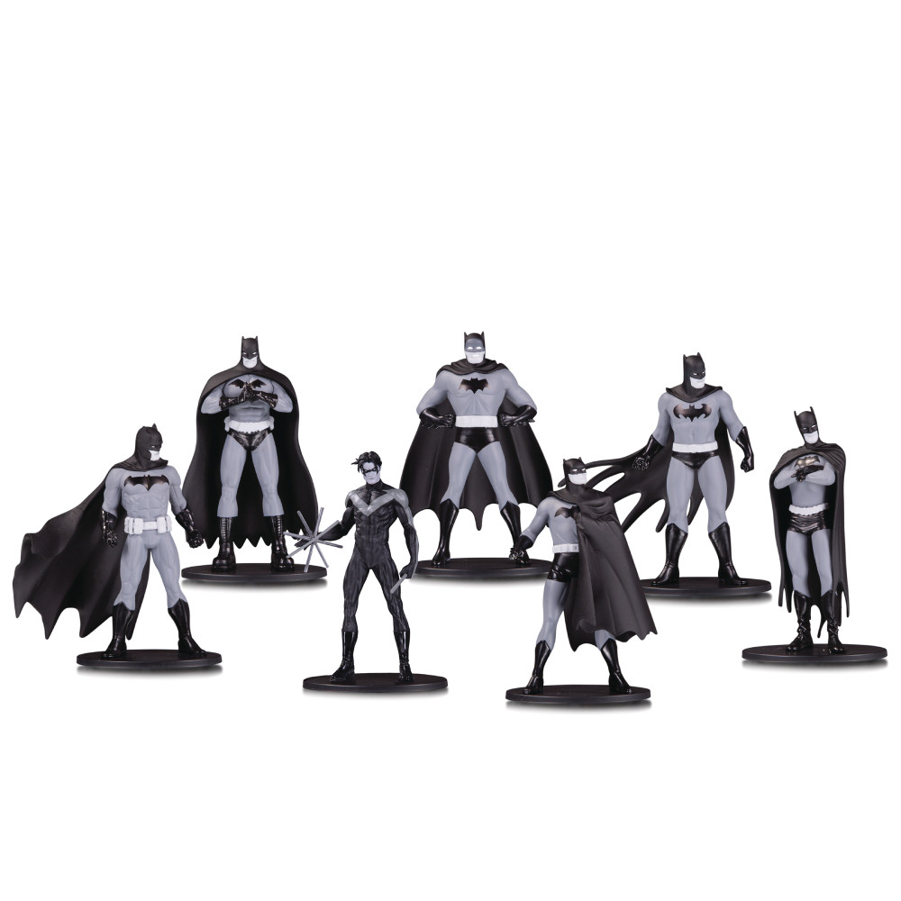 Mini Figurine Batman Black & White 7 bucati Set 1