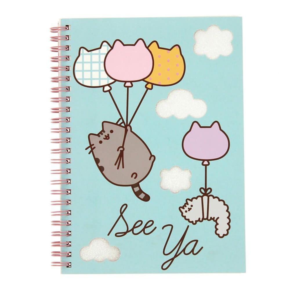 Notebook Pusheen A5 Glitter Balloons