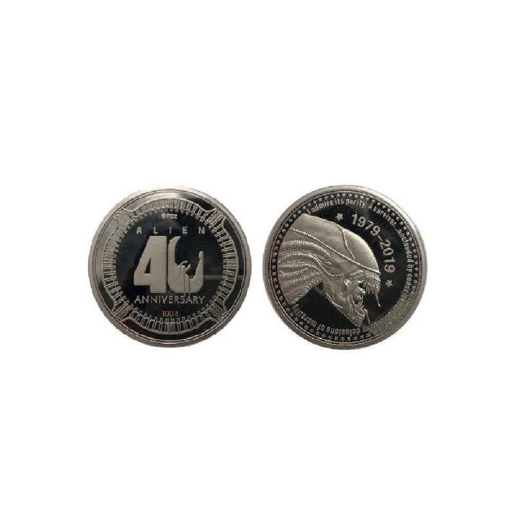Moneda Editie Aniversara 40 de ani Alien placata cu argint imagine