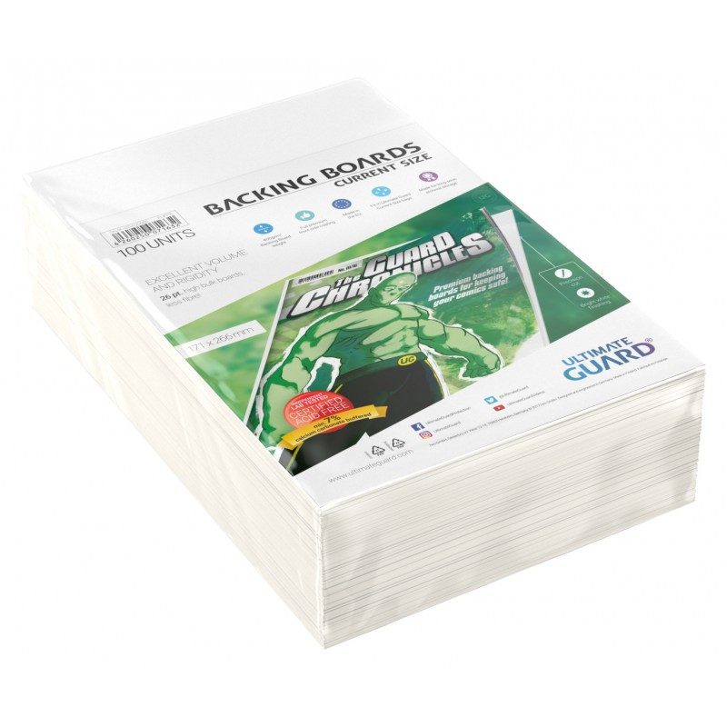 Ultimate Guard: Comic Backing Boards Current Size (100)