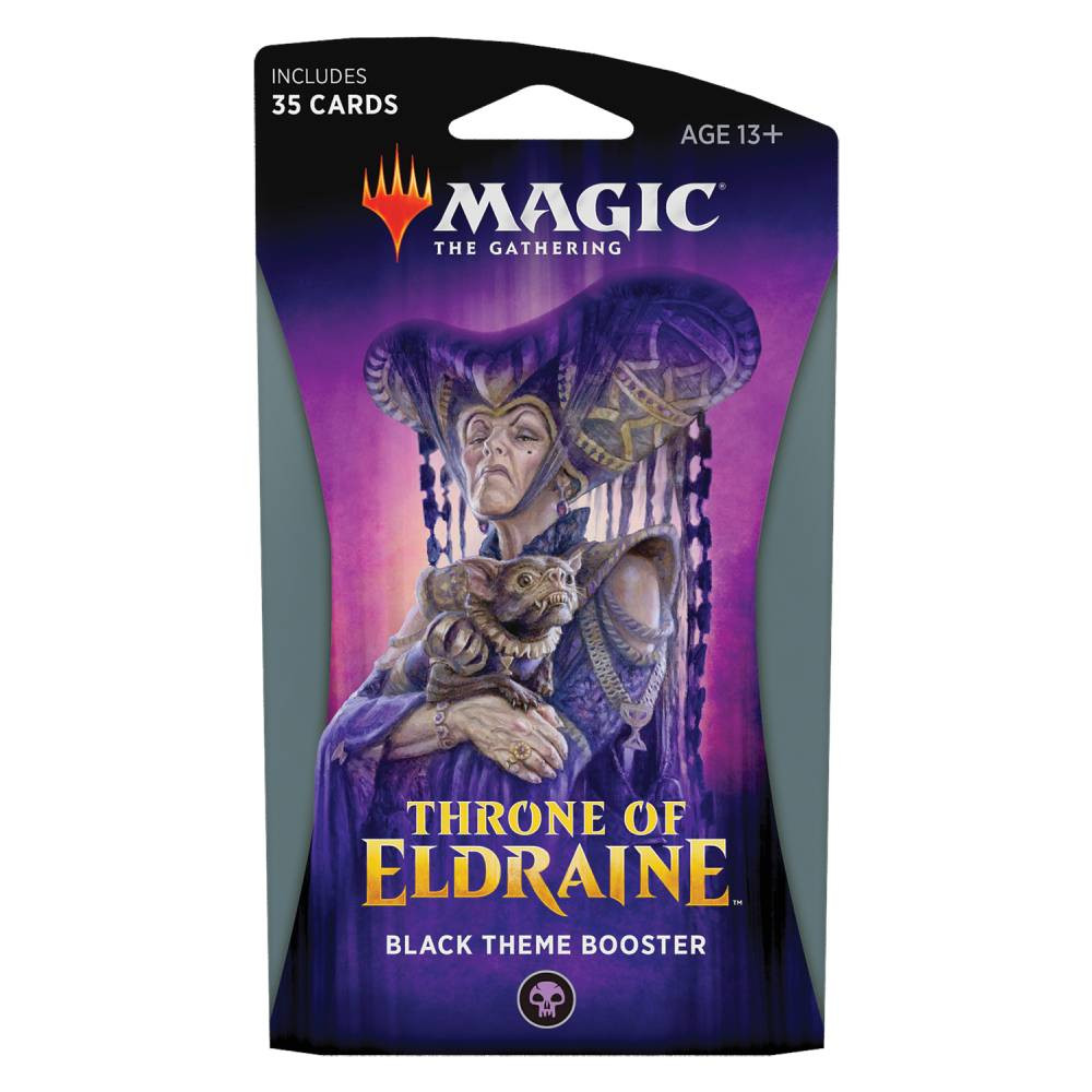 Pachet Magic: the Gathering Throne of Eldraine Theme Booster Negru