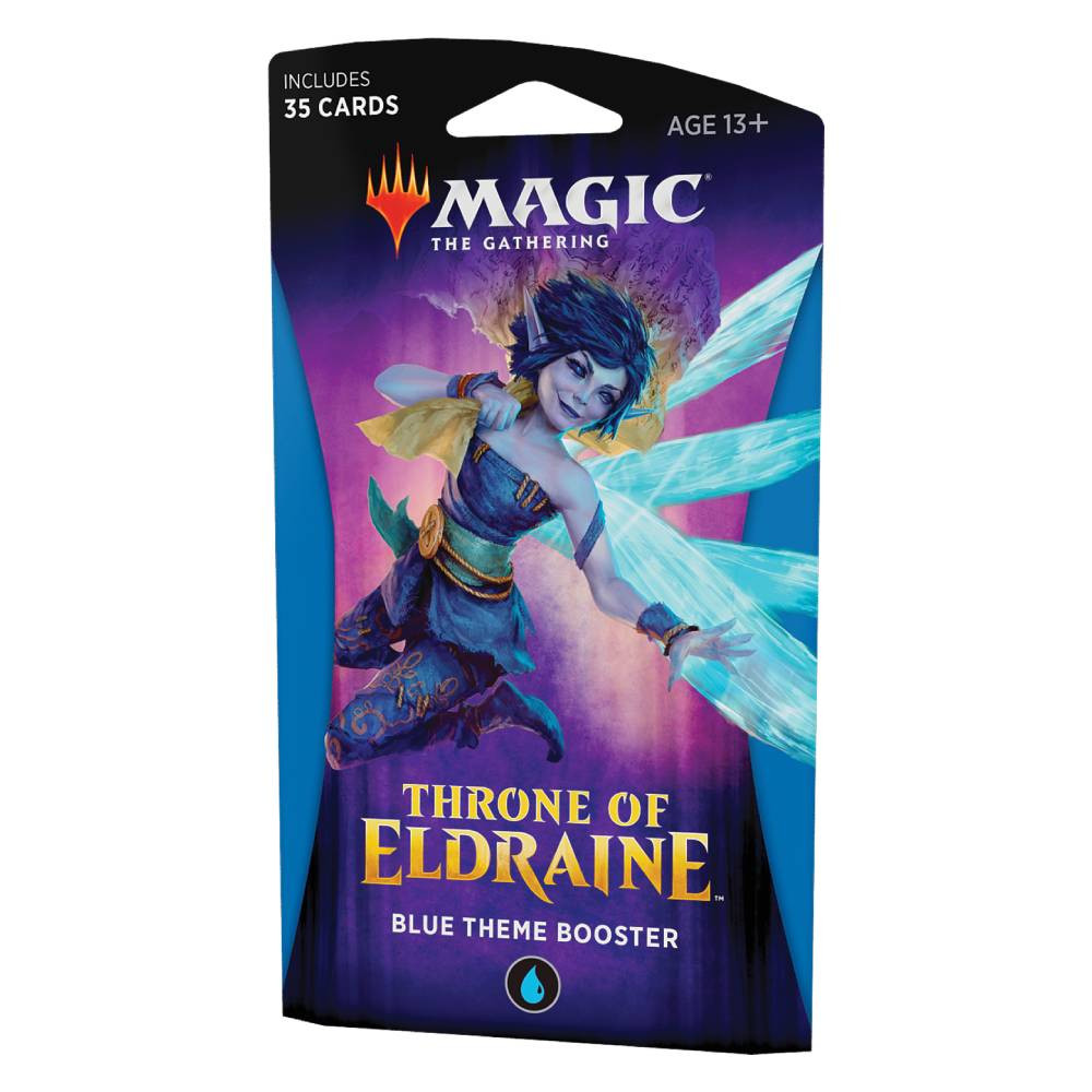 Pachet Magic: the Gathering Throne of Eldraine Theme Booster Albastru