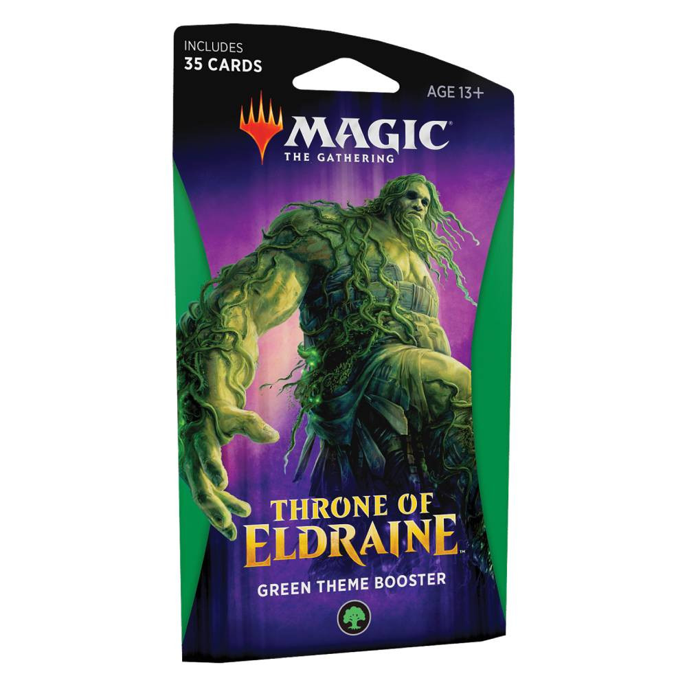 Pachet Magic: the Gathering Throne of Eldraine Theme Booster Verde