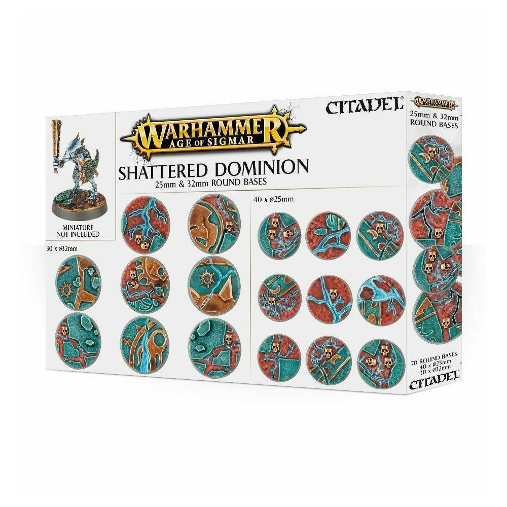 Baza Miniaturi Warhammer AoS Shattered Dominion 32mm Round Bases