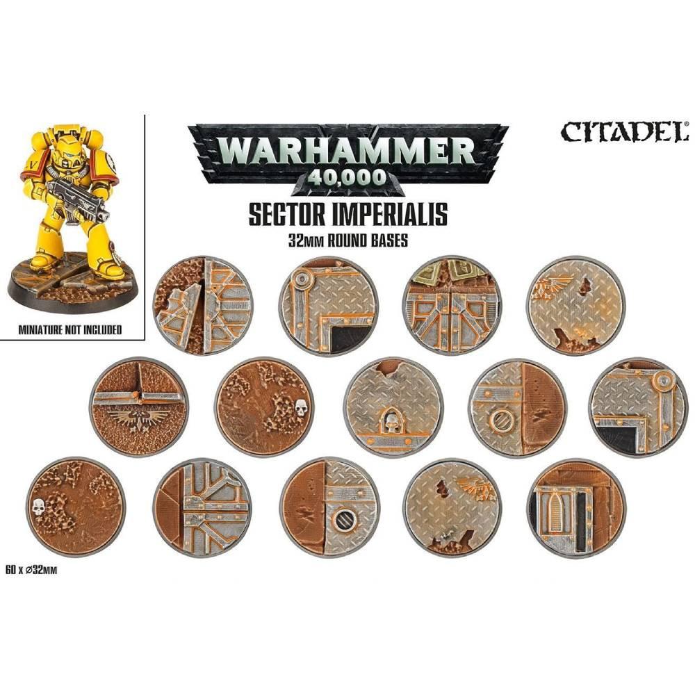 Baza Miniaturi Warhammer Sector Imperials 32mm Round Bases