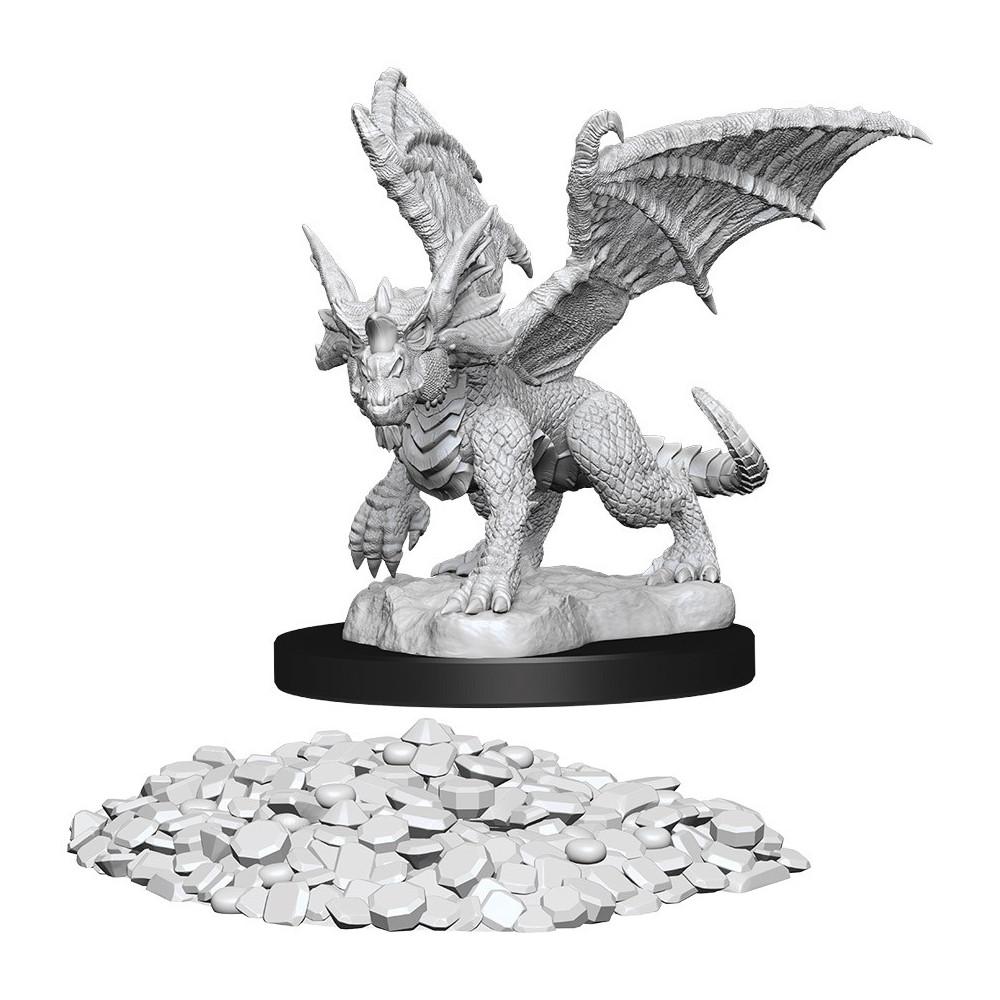 Miniaturi Nepictate D&D Nolzur's Marvelous Blue Dragon Wyrmling