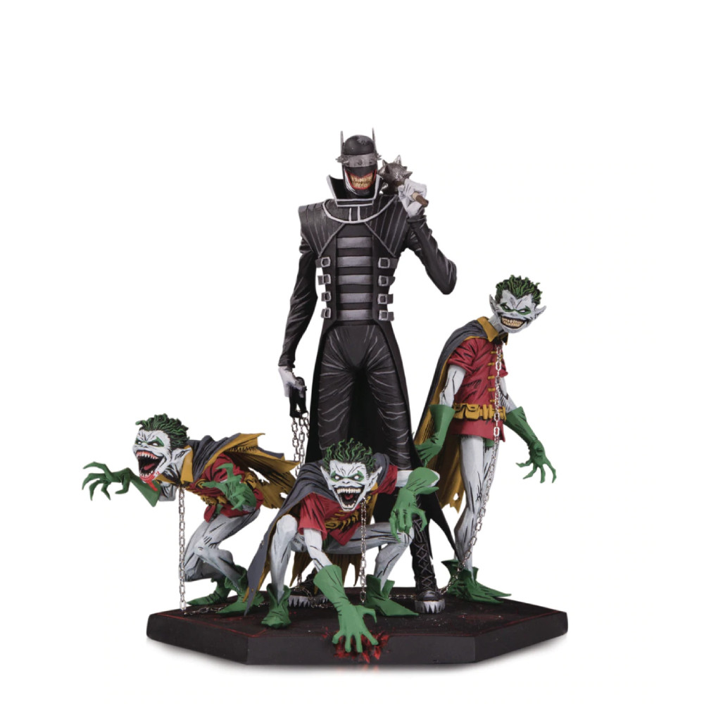 Figurina Dark Nights Metal Batman Who Laughs & Robins Deluxe