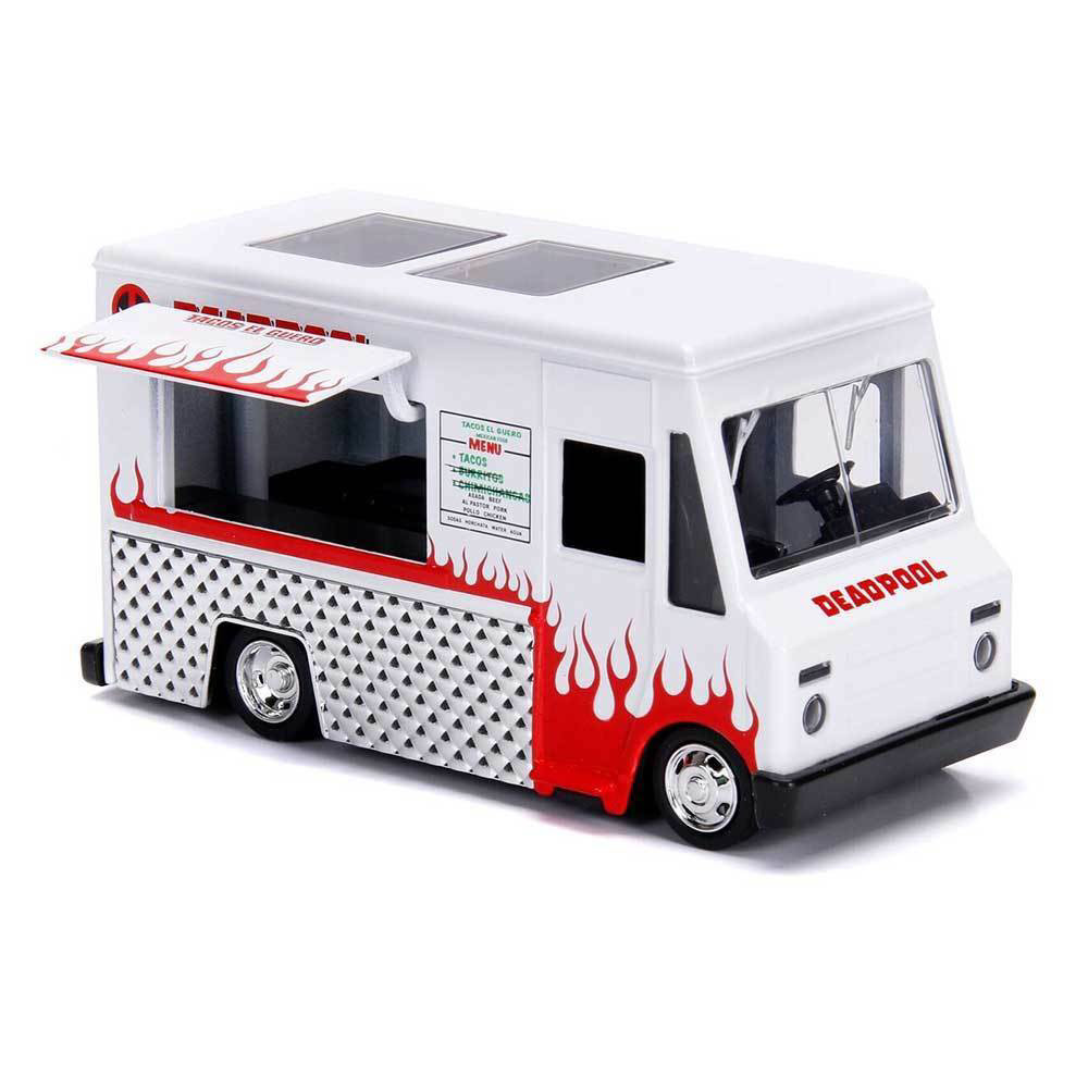 Figurina Deadpool Diecast Model Hollywood Rides 1/32 Deadpool Foodtruck