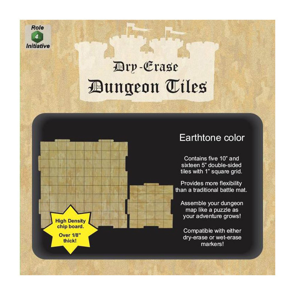 Accesorii Dry Erase Dungeon Tiles Earthtone Square Mixed Pack imagine