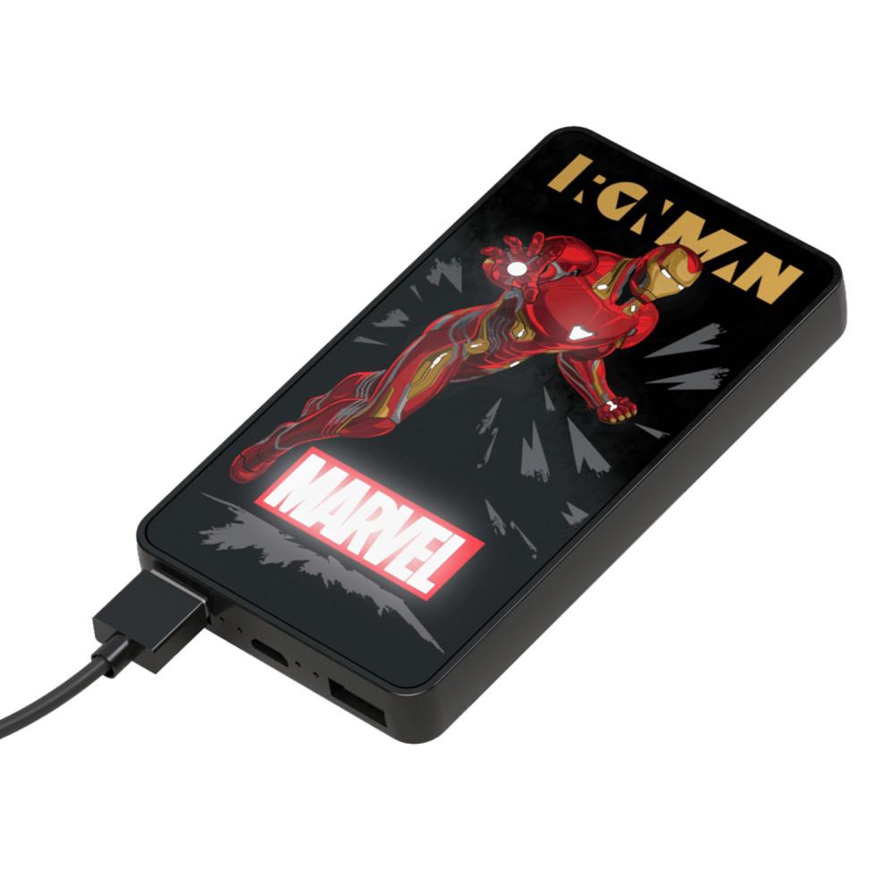 Baterie Externa cu Led Iron Man Lumina 6000 Mah imagine