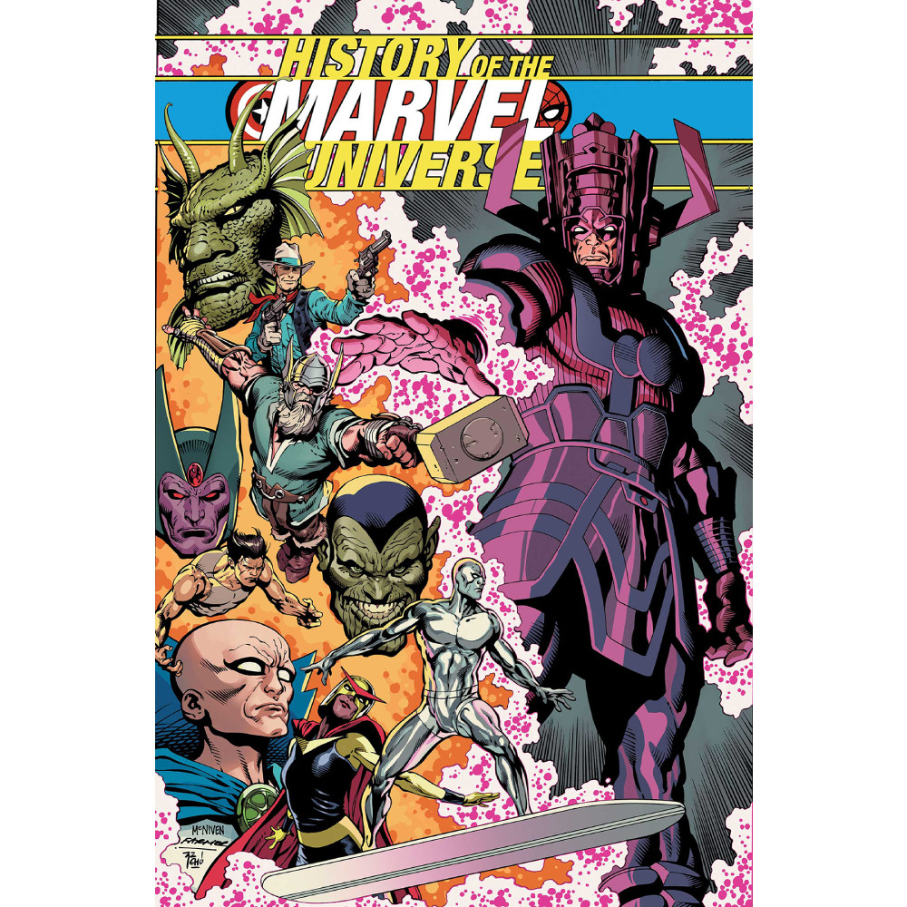 History of Marvel Universe Treasury Edition TP Mcniven Cover