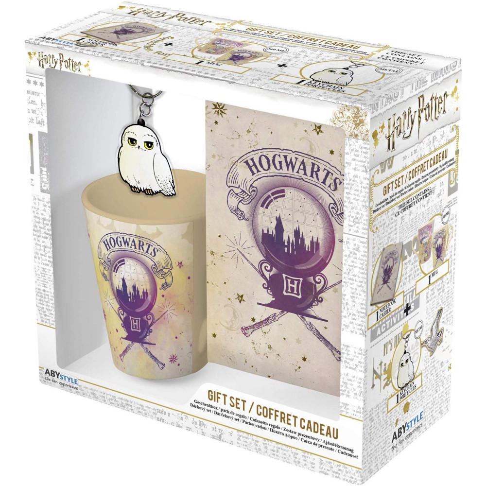 Set Cana + Breloc + Notebook Harry Potter Hogwarts