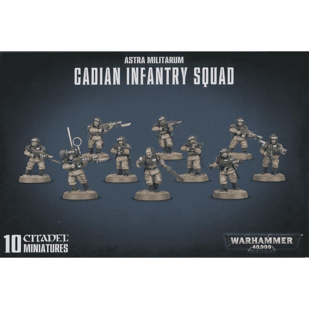 Warhammer Astra Militarum Cadians Infantry Squad