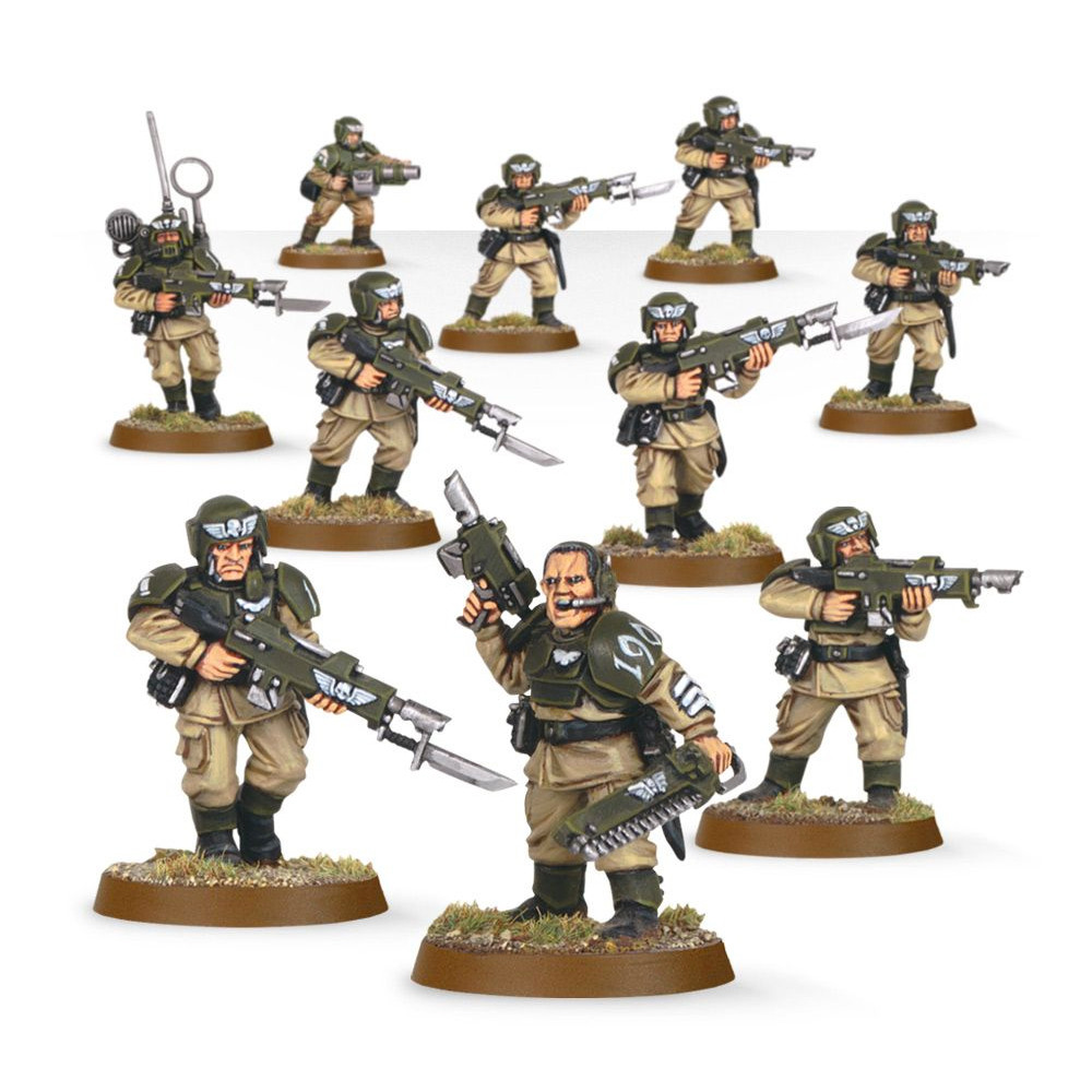 Warhammer Astra Militarum Cadians Infantry Squad - 1