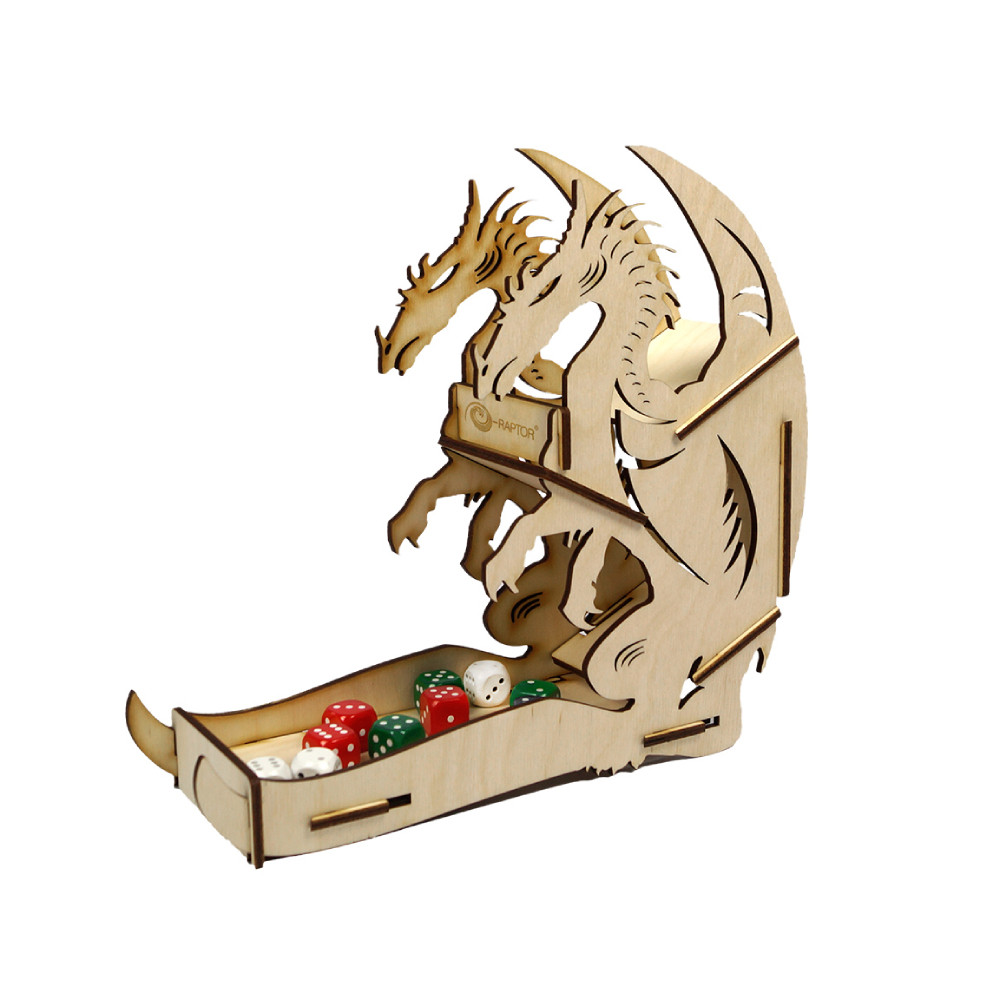 Accesoriu e-Raptor Dice Tower Dragon Wooden imagine