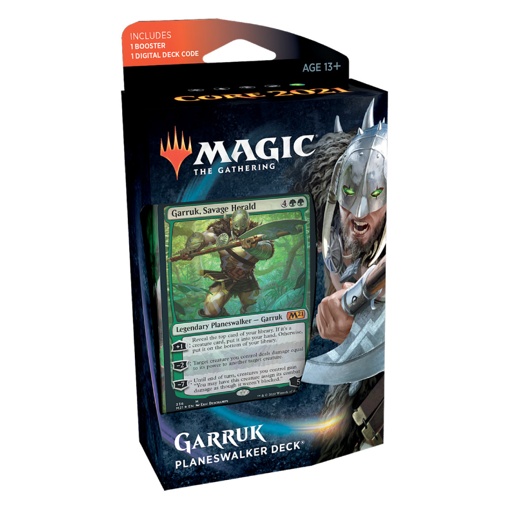 Magic the Gathering Core Set 2021 Planeswalker Deck Garruk